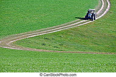 Tractor on a Crooked Road