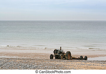 Tractor On Beach