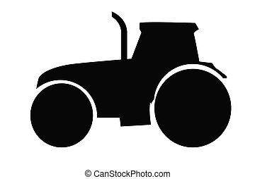 tractor on white