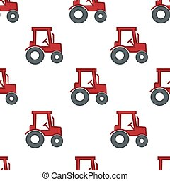 Tractor or harvester farming and agriculture seamless pattern vehicle