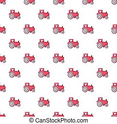 Tractor pattern seamless