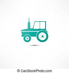 tractor, pictogram