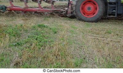 tractor plough wheel - follow tractor machine plough...