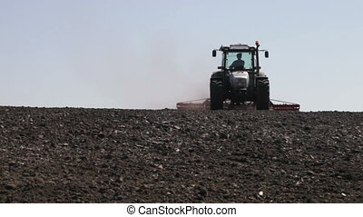 tractor plowing as much dust and leaves worth - SMELA, ...