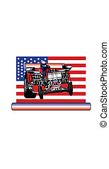Tractor Pull Vector - Pulling tractor, horsepower american...