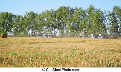 tractor ride on the harvest