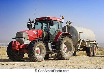 tractor rojo