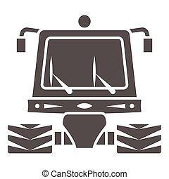 tractor, señal, plano de fondo, mundo, limpieza, sólido, día, arado, graphics., estilo, glyph, web., snowblower, nieve, icono, máquina, móvil, concepto, vector, icono, blanco, profesional