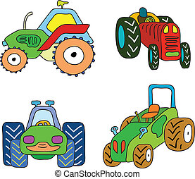 tractor, set