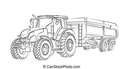 Tractor Sketch.