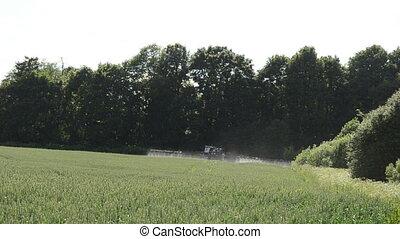 tractor spray field