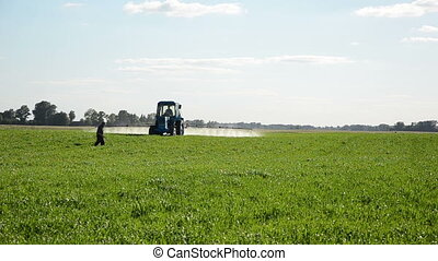 tractor spray man meter
