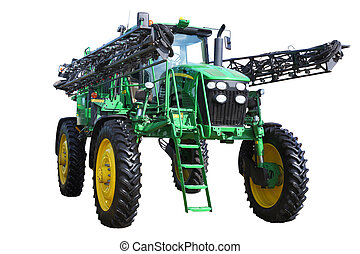 tractor sprayer on a white background