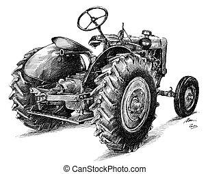 tractor - historic tractor Zetor 25