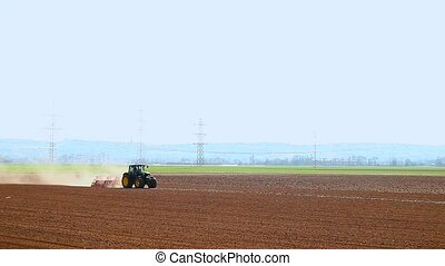 Tractor With Plough