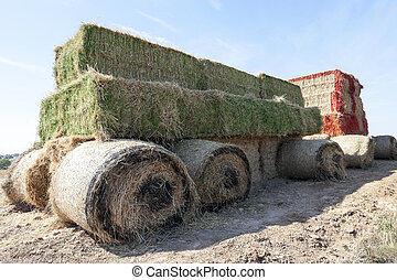 Tractor straw, close-up