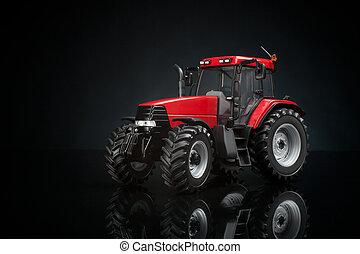 Tractor studio shot on black background