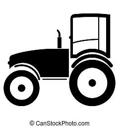 Tractor the black color icon .