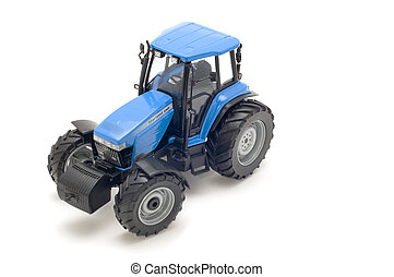 tractor toy - object on white - toy - tractor