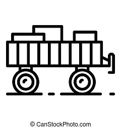 Tractor trail icon, outline style