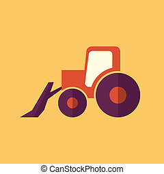 Tractor. Transportation Flat Icon