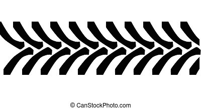Tractor Tyre Tread Marks - Tractor tyre tread marks isolated...