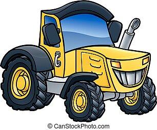 Tractor Vehicle Cartoon