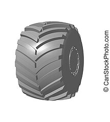 Tractor wheel illustration