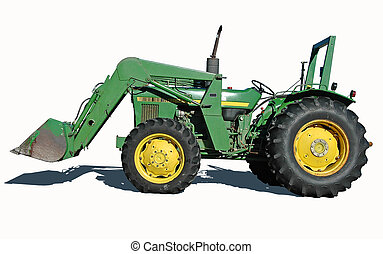 Tractor with Bucket - Tractor with bucket isolated on a ...