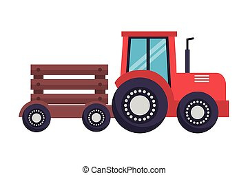 tractor with trailer farm