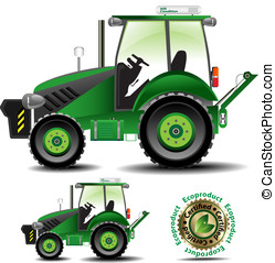 Tractor(Agric version) set - Detailed vector illustration of...
