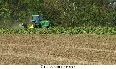 Tractors Discing And Sowing Field - Tractors discing field...