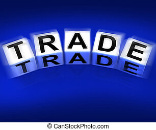 Trade Blocks Displays Trading Forex Commerce and Industry