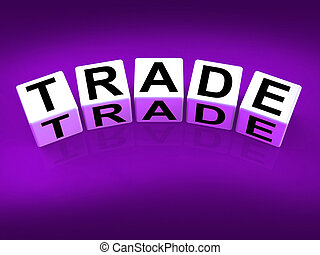 Trade Blocks Show Trading Forex Commerce and Industry