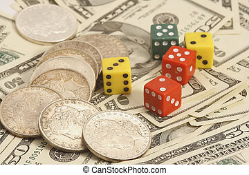 trade dollar and dice
