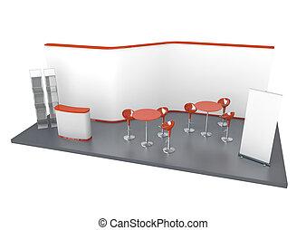 Trade Exhibition Stand - Trade exhibition stand. 3D rendered...
