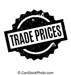 Trade Prices rubber stamp