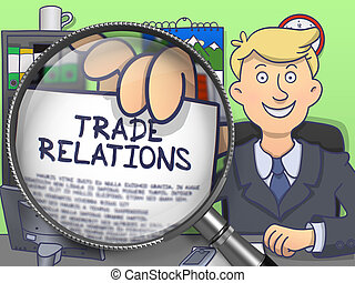Trade Relations through Lens. Doodle Design.