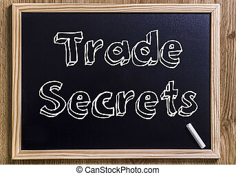 Trade Secrets - New chalkboard with 3D outlined text
