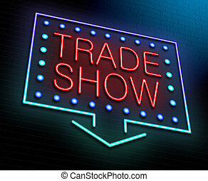 Trade show concept. - Illustration depicting an illuminated...