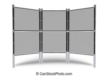 Trade Show Display Isolated on White. 3D Render Illustration...