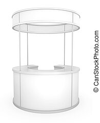 Trade Stand - Blank circular trade stand, 3D rendered...