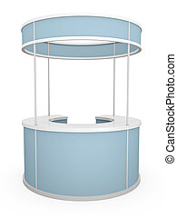 Rounded trade stand