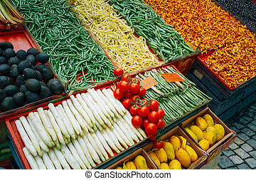 Trade vegetables in local food market