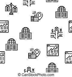 Trade War Business Seamless Pattern Vector