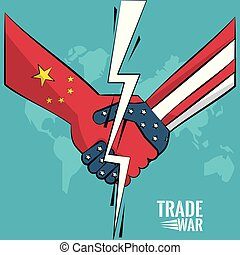 Trade war concept