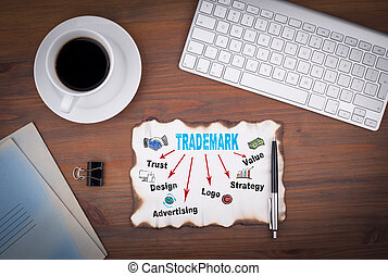 Trademark business concept. Abstract Strategy and Success Background