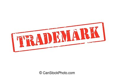 Trademark - Rubber stamp with word trademark inside, vector...