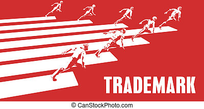 Trademark with Business People Running in a Path