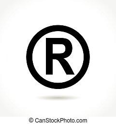 trademark icon on white background - Illustration of...